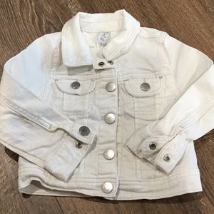 Baby Gap white jean jacket